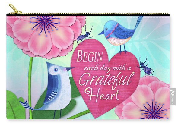 Attitude Of Gratitude Carry-all Pouch