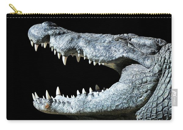 Nile Croco-smile Carry-all Pouch