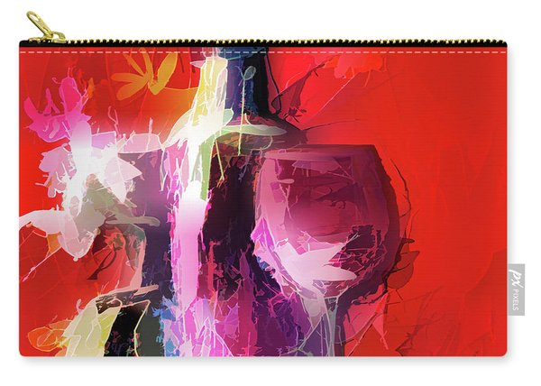 Fun Colorful Modern Wine Art   Carry-all Pouch