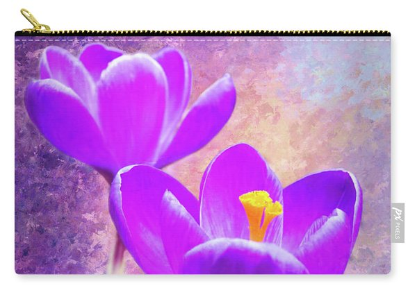 Our First Crocuses This Spring Carry-all Pouch