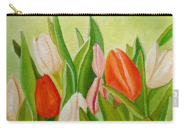 Carry-all Pouch featuring the painting Colors Of Spring by Angeles M Pomata