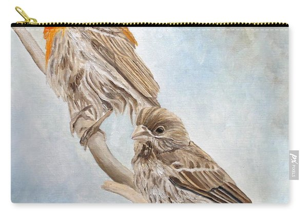 House Finch Couple Carry-all Pouch
