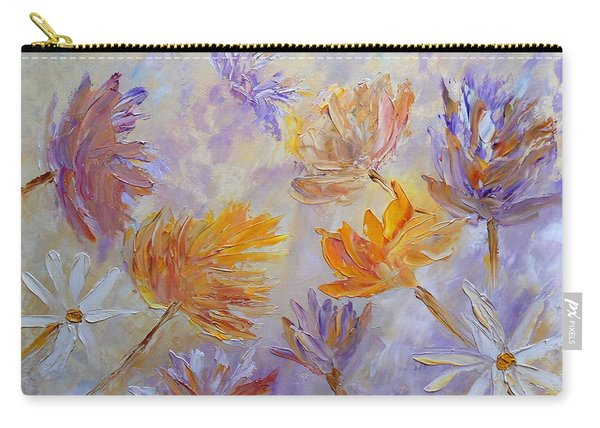Carry-all Pouch featuring the painting Purple Blaze by Angeles M Pomata