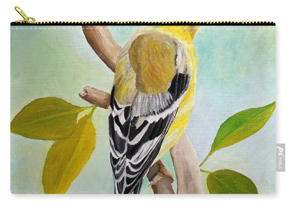 Pretty American Goldfinch Carry-all Pouch