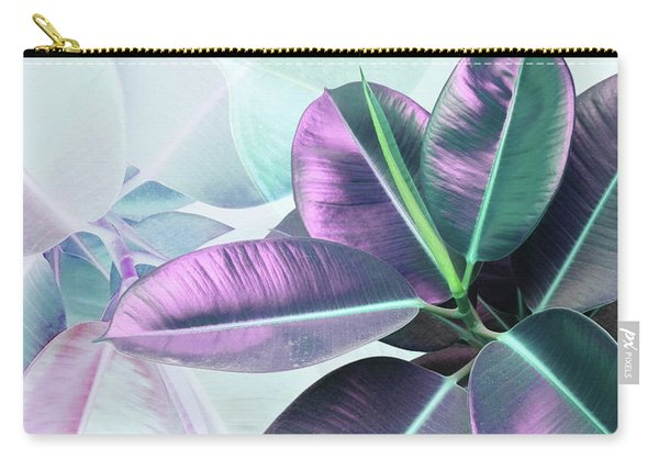 Violet Rubber Plant Carry-all Pouch