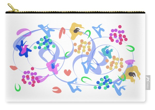 Abstract Garden Nr 6 Carry-all Pouch