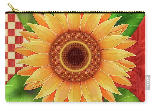 Country Sunflower Carry-all Pouch