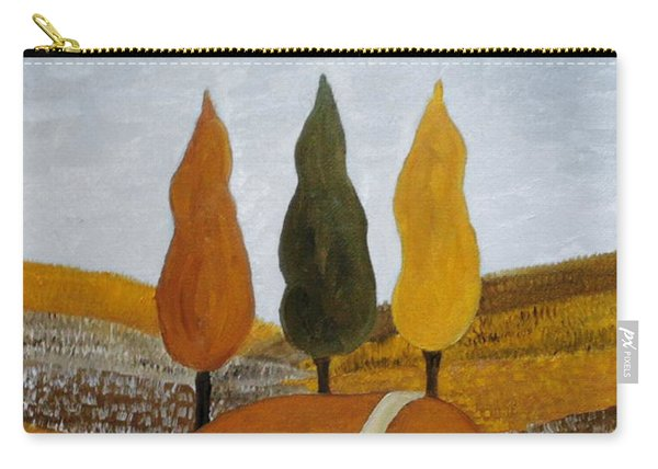 Carry-all Pouch featuring the painting Just The Three Of Us by Angeles M Pomata