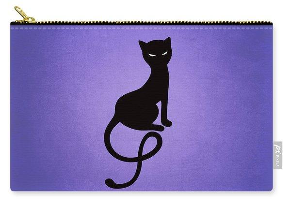 Purple Gracious Evil Black Cat Carry-all Pouch