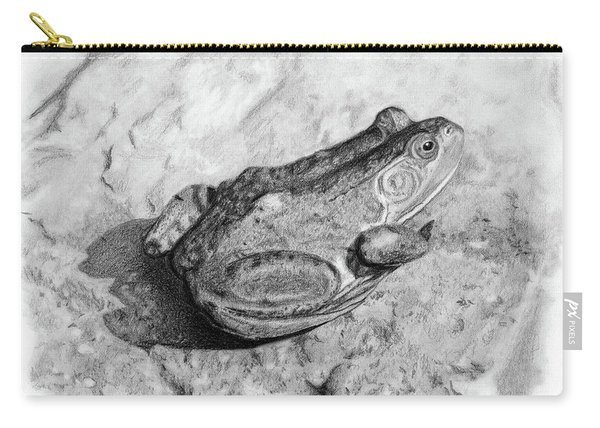 Frog On Rock Carry-all Pouch