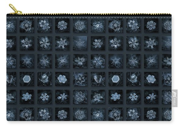 Snowflake Collage - Season 2013 Dark Crystals Carry-all Pouch
