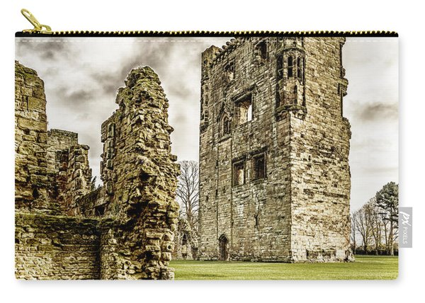 Carry-all Pouch featuring the photograph Ashby Castle by Nick Bywater