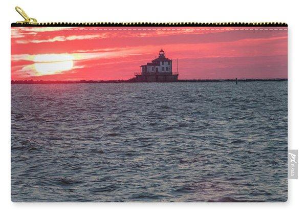 Ashtabula Ohio Lighthouse At Sunset  Carry-all Pouch