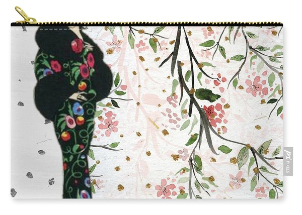 Asian Art Deco Beauty Carry-all Pouch
