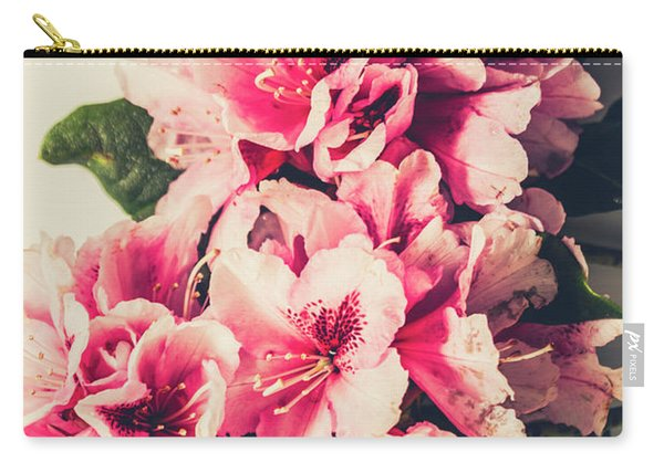 Asian Floral Rhododendron Flowers Carry-all Pouch