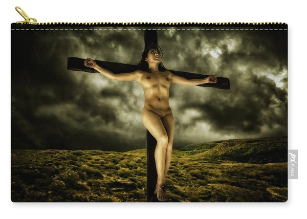 Asian Jesus Crucifix V Carry-all Pouch