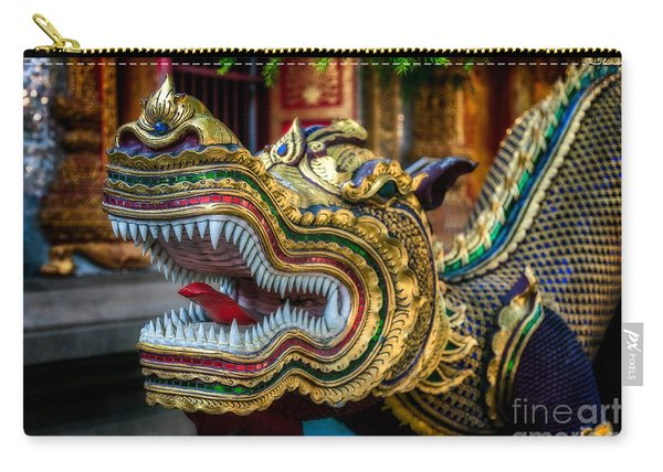 Asian Temple Dragon Carry-all Pouch