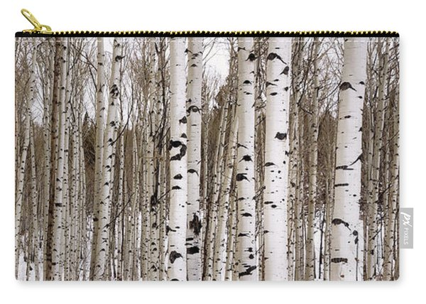 Aspens In Winter Panorama - Colorado Carry-all Pouch