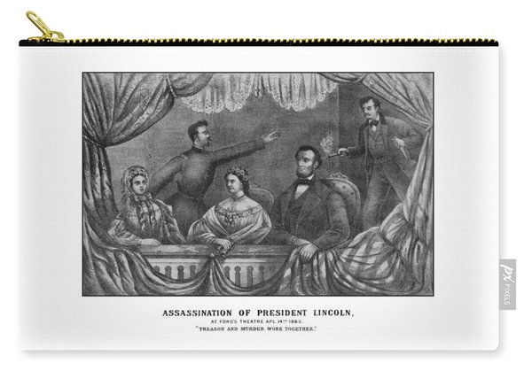 Assassination Of President Lincoln Carry-all Pouch
