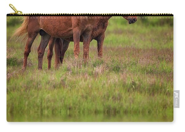Assateague Ponies In The Marsh Carry-all Pouch