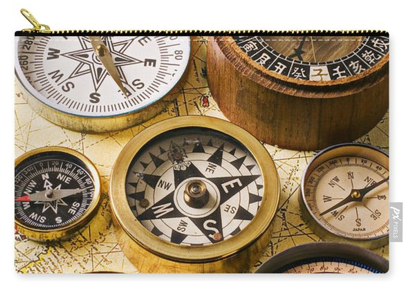 Assorted Compasses Carry-all Pouch