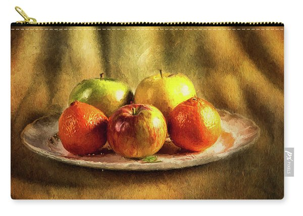 Assorted Fruits In A Plate Carry-all Pouch