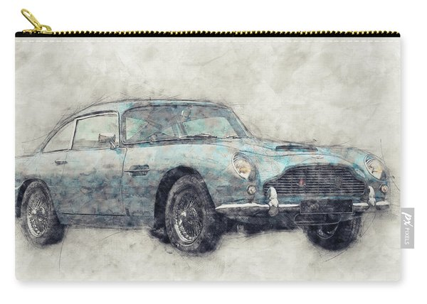 Aston Martin Db5  1- Luxury Grand Tourer - Automotive Art - Car Posters Carry-all Pouch