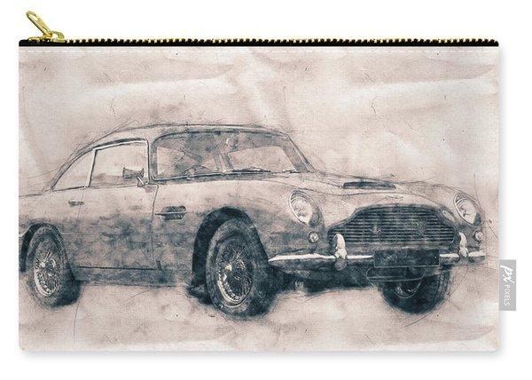 Aston Martin Db5 - Luxury Grand Tourer - Automotive Art - Car Posters Carry-all Pouch