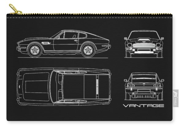 Aston Martin V8 Vantage Blueprint Carry-all Pouch