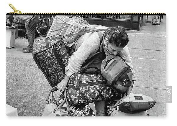 Carry-all Pouch featuring the photograph Bag Lady by Eric Lake