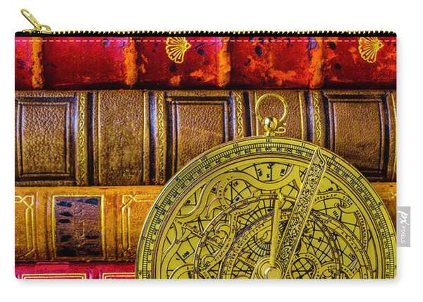 Astrolabe And Old Books Carry-all Pouch