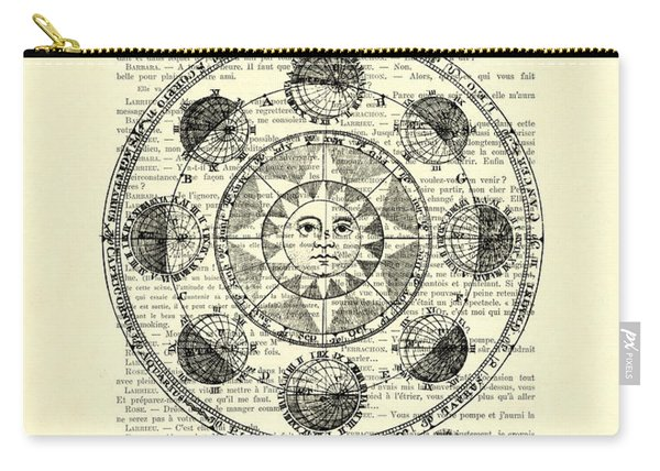 Astrology Chart, Solar System Carry-all Pouch