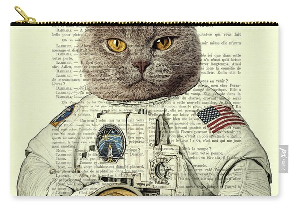 Astronaut Cat Illustration Carry-all Pouch