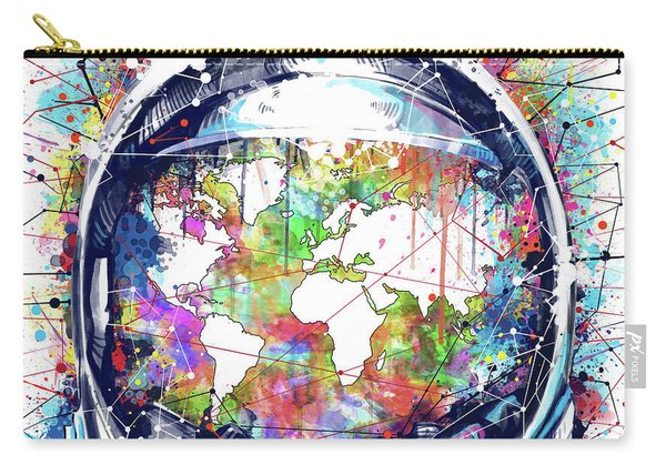 Astronaut World Map 6 Carry-all Pouch