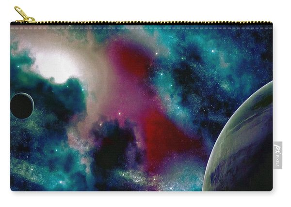 Astronomy Painting Glammed Out Teal Carry-all Pouch