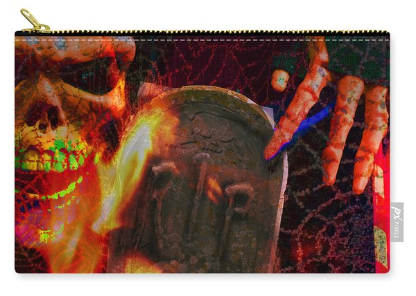 At Night In The Graveyard Carry-all Pouch
