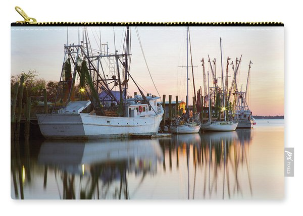 Carry-all Pouch featuring the photograph At Rest - Shem Creek by Donnie Whitaker