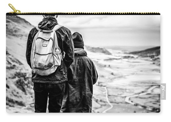 Carry-all Pouch featuring the photograph On The Edge by Nick Bywater