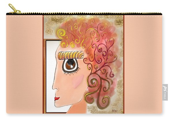 Athena In The Mirror Carry-all Pouch