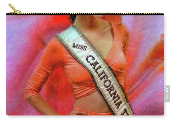 Athenna Crosby Miss California Teen Usa Carry-all Pouch