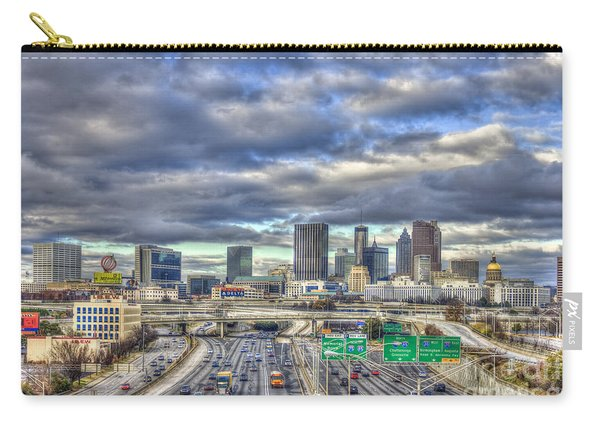 Atlanta The Beautiful Cityscape South Looking North Atlanta Skyline Art Carry-all Pouch