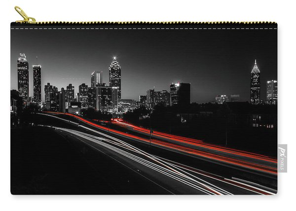 Atlanta Black And White Carry-all Pouch