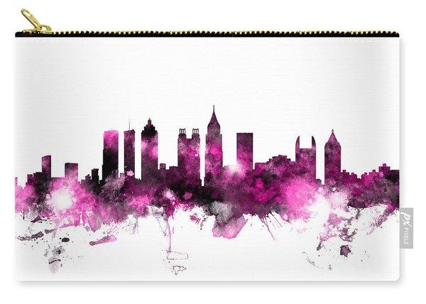 Atlanta Georgia Skyline Pink Carry-all Pouch