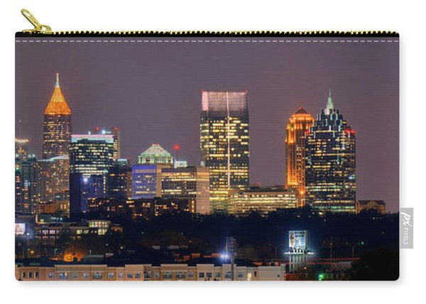 Atlanta Skyline At Night Downtown Midtown Color Panorama Carry-all Pouch