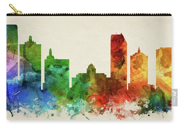 Atlantic City Skyline Panorama Usnjac-pa03 Carry-all Pouch