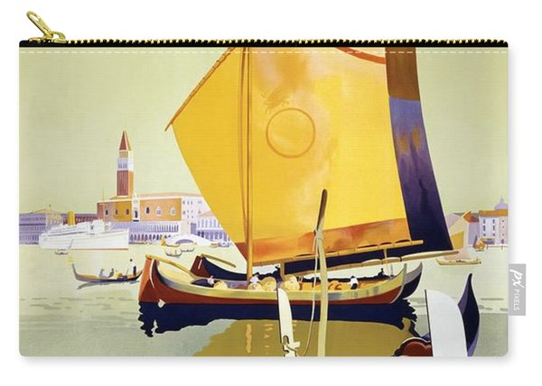 Atlantis Autumn Cruises - Sailboats And Yachts In A Harbor - Royal Mail - Vintage Advertising Poster Carry-all Pouch