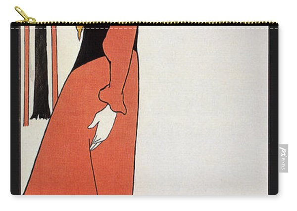 Aubrey Beardsley - Girl In Red Gown - Vintage Advertising Poster Carry-all Pouch