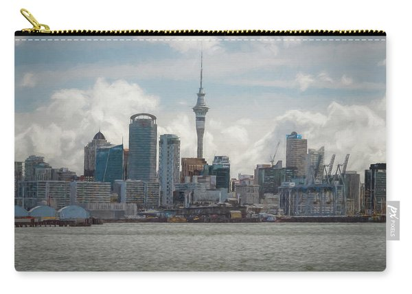 Auckland New Zealand Skyline Painterly Carry-all Pouch