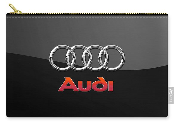Audi 3 D Badge On Black Carry-all Pouch