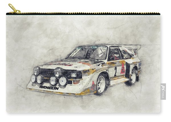Audi Quattro 1 - Rally Car - 1980 - Automotive Art - Car Posters Carry-all Pouch